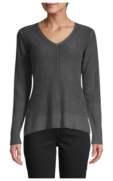 Raffi Pigment Print Cashmere Sweater in black