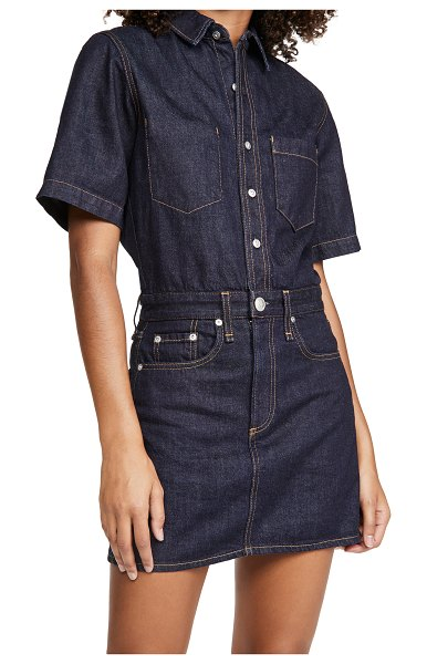Rag & Bone all in one shirtdress in rinse