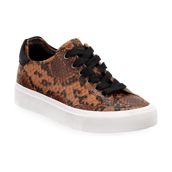 Rag & Bone Army Snake-Print Low-Top Sneakers in goldenbrown snake