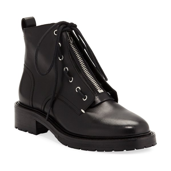 Rag & Bone Cannon Front-Zip Ankle Boots in black