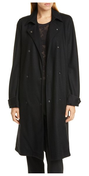 Rag & Bone eunice wool trench coat in blk