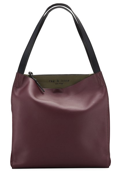 Rag & Bone Leather Passenger Tote Bag in purple/green