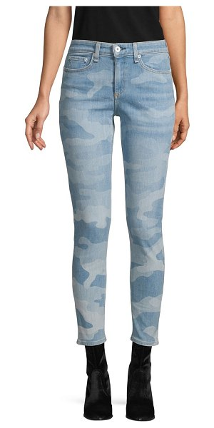 Rag & Bone Mid-Rise Ankle Skinny Jeans in faded camo