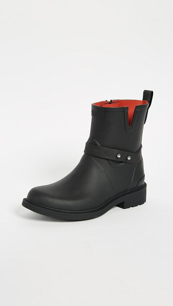 Rag & Bone moto rain boots in black