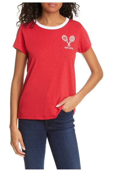 Rag & Bone one love graphic tee in crimsonred