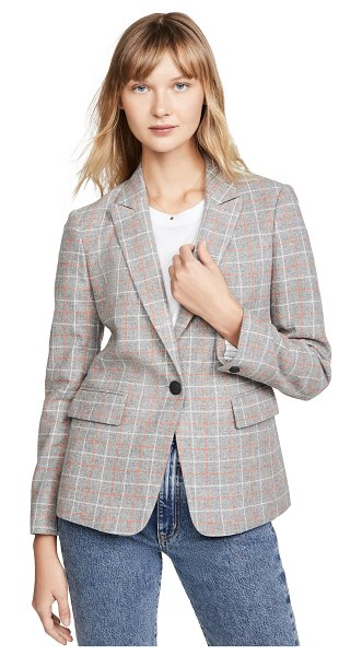 Rag & Bone rylie check blazer in grey check