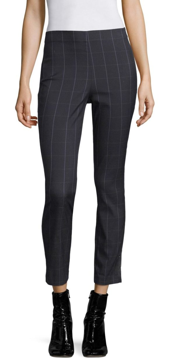 Rag & Bone simone plaid pants in navy - Elegantly tailored cotton-blend pants in plaid....