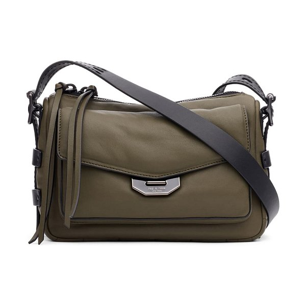 Rag & Bone small leather field messenger bag in olive night