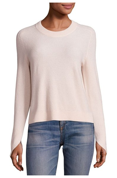 Rag & Bone Valentina Cashmere Cropped Top in camel - EXCLUSIVELY AT SAKS FIFTH AVENUE. Rib-knit sweater in...