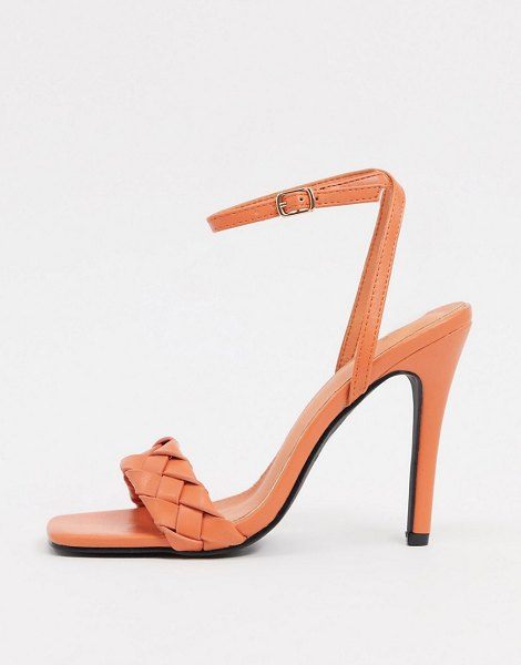 Raid judy plaited heeled sandals in burnt orange in orange