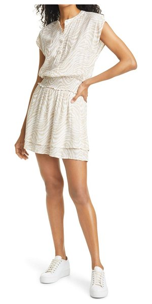 Rails angelina dress in tan abstract tiger