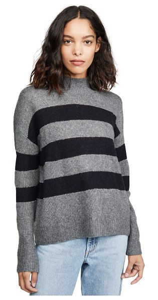Rails elise cashmere sweater in charcoal/midnight stripe