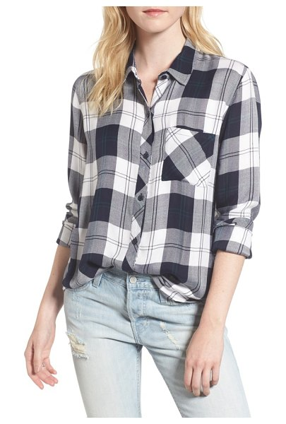 Rails hunter plaid shirt in midnight pine