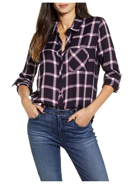 Rails hunter plaid shirt in midnight/ plum