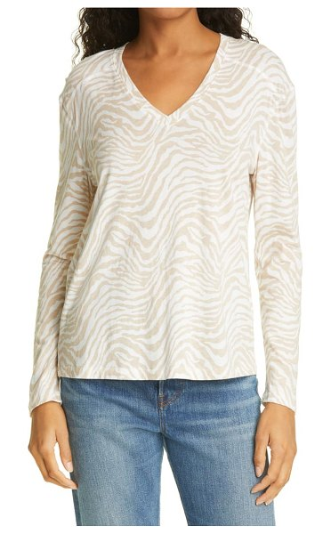 Rails the sami tiger stripe top in tan abstract tiger