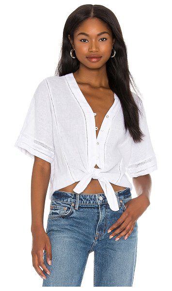 Rails thea top in white lace detail