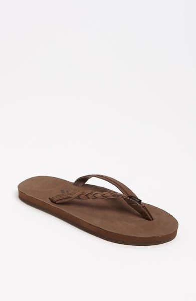 RainbowR rainbow 'flirty' braided leather flip flop in expresso
