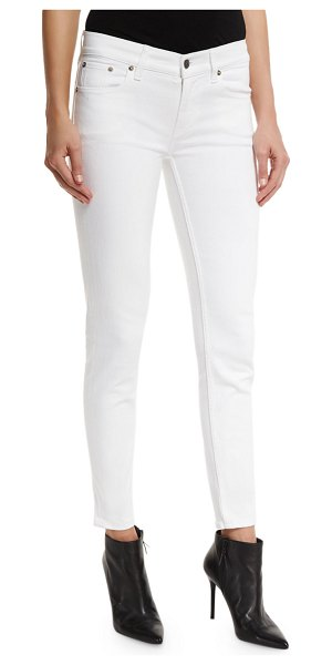 Ralph Lauren Collection 400 Matchstick Ankle Jeans in white