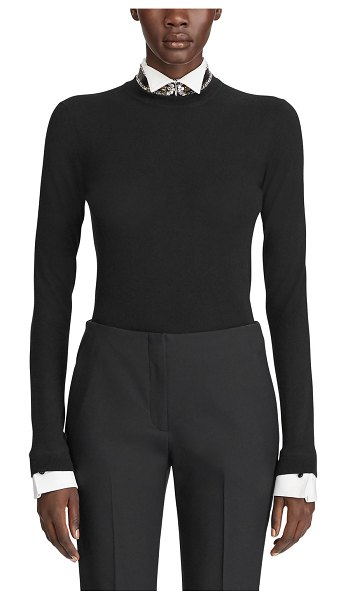 Ralph Lauren Collection Cashmere Crewneck Sweater in black