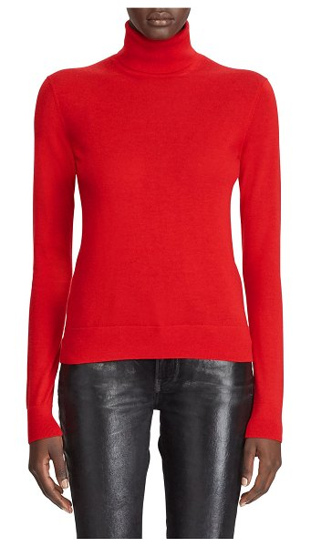 Ralph Lauren Collection Cashmere Jersey Turtleneck Sweater in red
