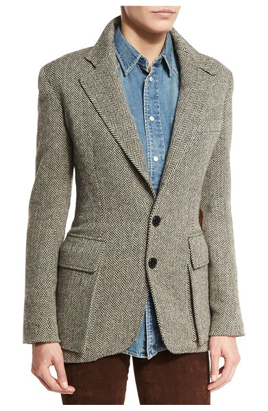 Ralph Lauren Collection The Tweed Jacket in black/white