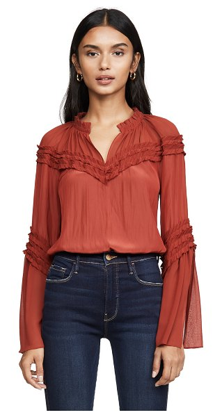 Ramy Brook emmeline blouse in clay