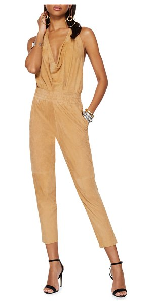 Ramy Brook Fable Skinny Suede Pants in sand