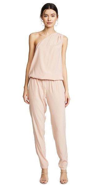Ramy Brook lulu one shoulder jumpsuit in blush