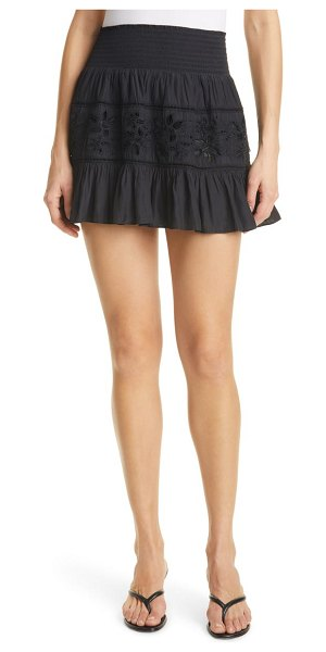 Ramy Brook sheila embroidered skirt in black