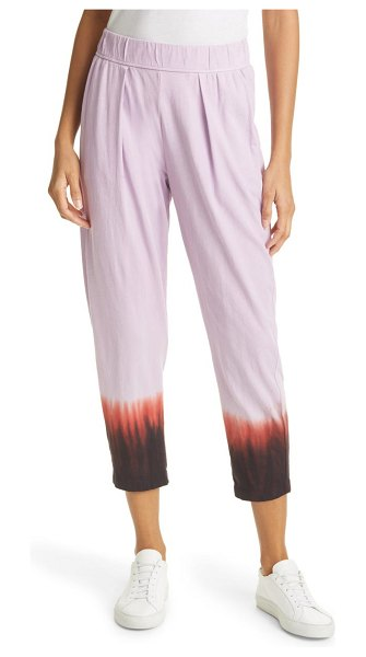 Raquel Allegra easy rib cotton pants in purple horizon td
