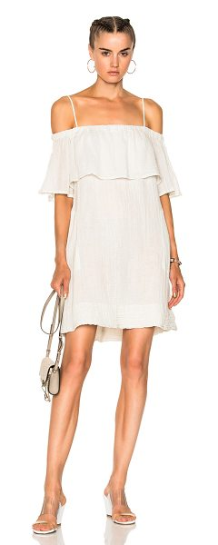 Raquel Allegra for FWRD Cotton Gauze Mini Dress in white - Raquel Allegra gained instant popularity for her...