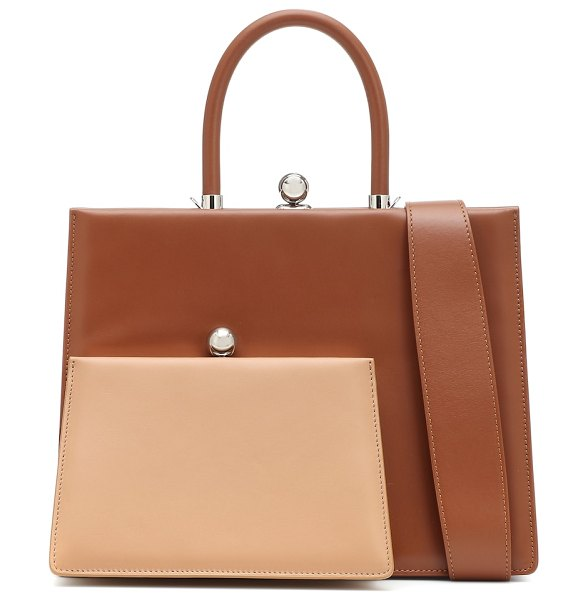 Ratio et Motus twin frame leather tote in brown