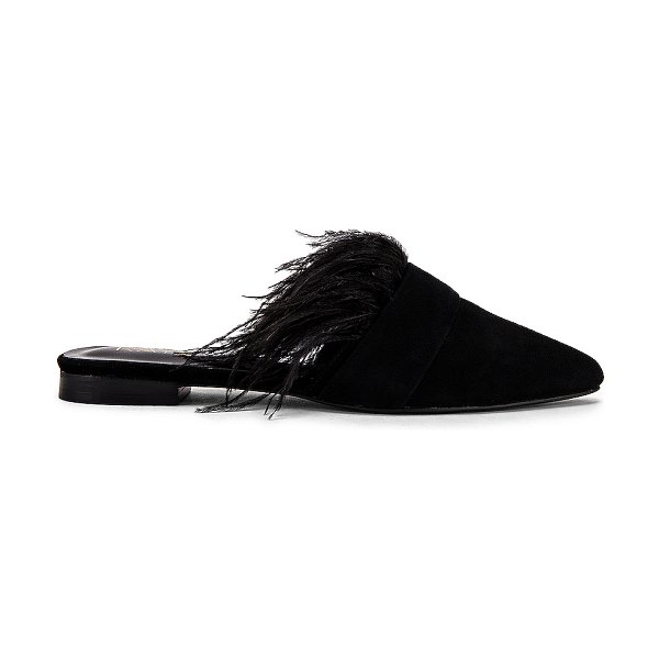 Raye feather flat in black