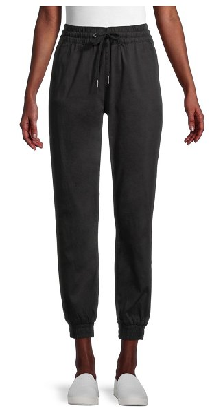 RD Style Stretch-Cotton Joggers in black