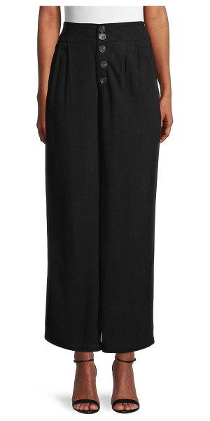 RD Style Wide-Leg Ankle Pants in faded black