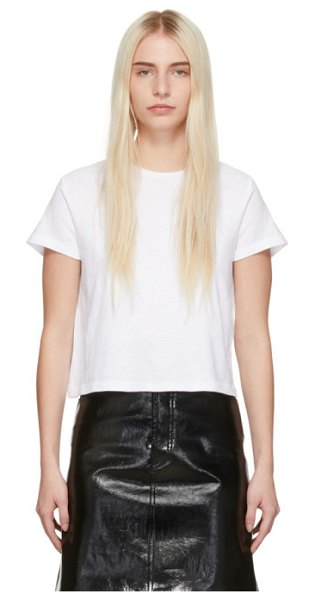 RE/DONE white 1950s boxy t-shirt in opticwhite