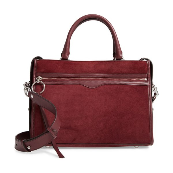 Rebecca Minkoff bedford suede satchel in brown - Sophisticated and streamlined, this structured satchel...