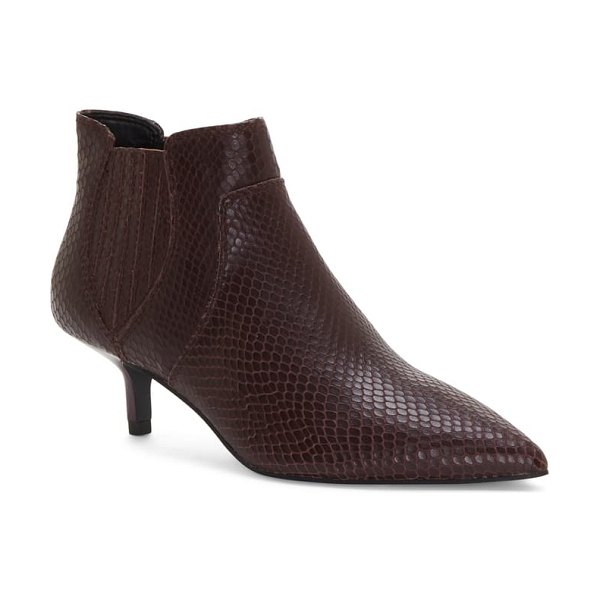 Rebecca Minkoff deina too pointed toe bootie in pinot noir leather