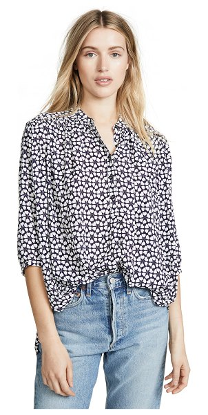 Rebecca Minkoff fleur top in navy multi