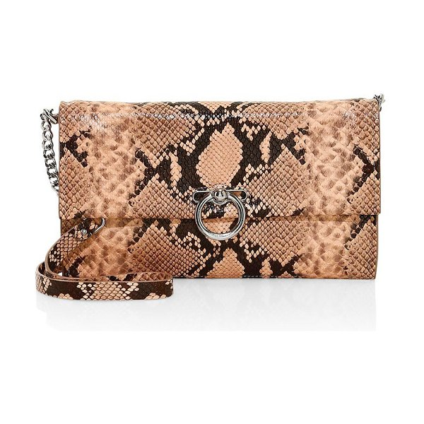 Rebecca Minkoff jean convertible python-embossed leather clutch in thyme,rosewood