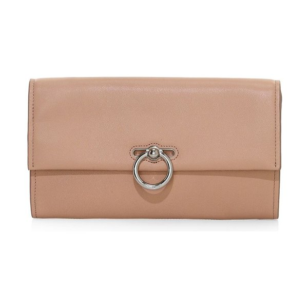 Rebecca Minkoff jean leather clutch in doe