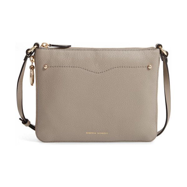 Rebecca Minkoff jody expandable leather crossbody bag in taupe