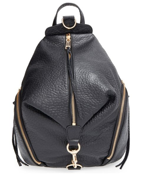 Rebecca Minkoff julian backpack in black/ light gold hrdwr