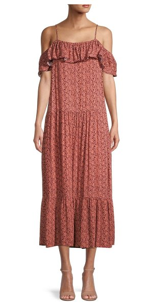 Rebecca Minkoff La Paz Tiered Dress in melon