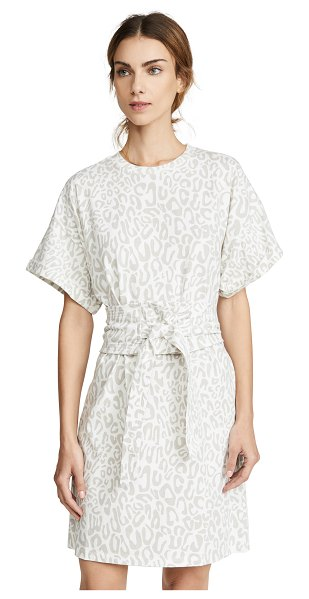 Rebecca Minkoff marta dress in white leopard
