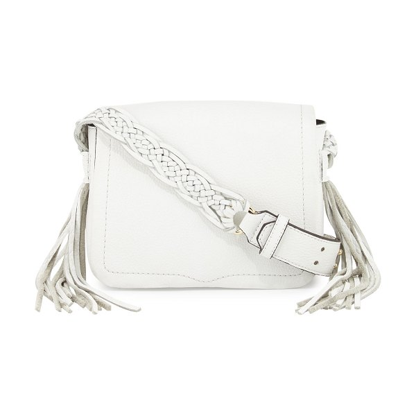 Rebecca Minkoff Wendy Small Leather Crossbody Bag in white