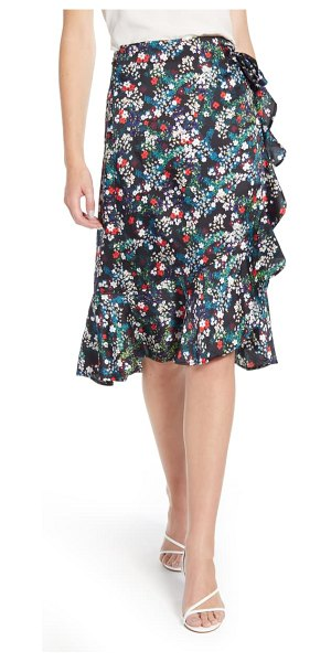 Rebecca Minkoff zoe floral wrap skirt in black multi