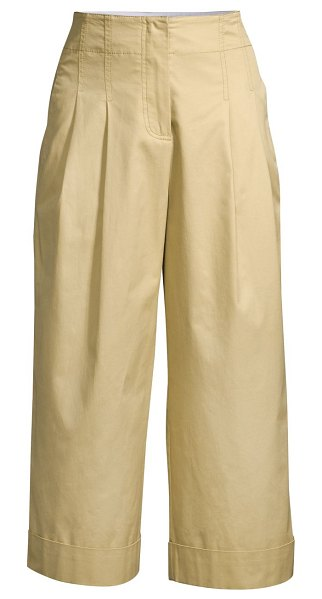 Rebecca Taylor compact twill pants in beige