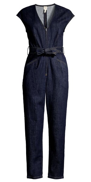 Rebecca Taylor lv denim jumpsuit in rinse wash
