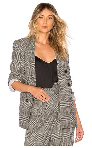 Rebecca Taylor plaid blazer in black combo
